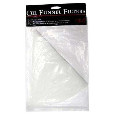 Oil Funnel Paper Filter (Set of 6)