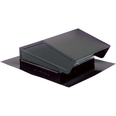 Roof Cap with Built-In Damper for 3-1/4 in. x 10 in. Duct or up to 8 in. Round Duct in Black Steel