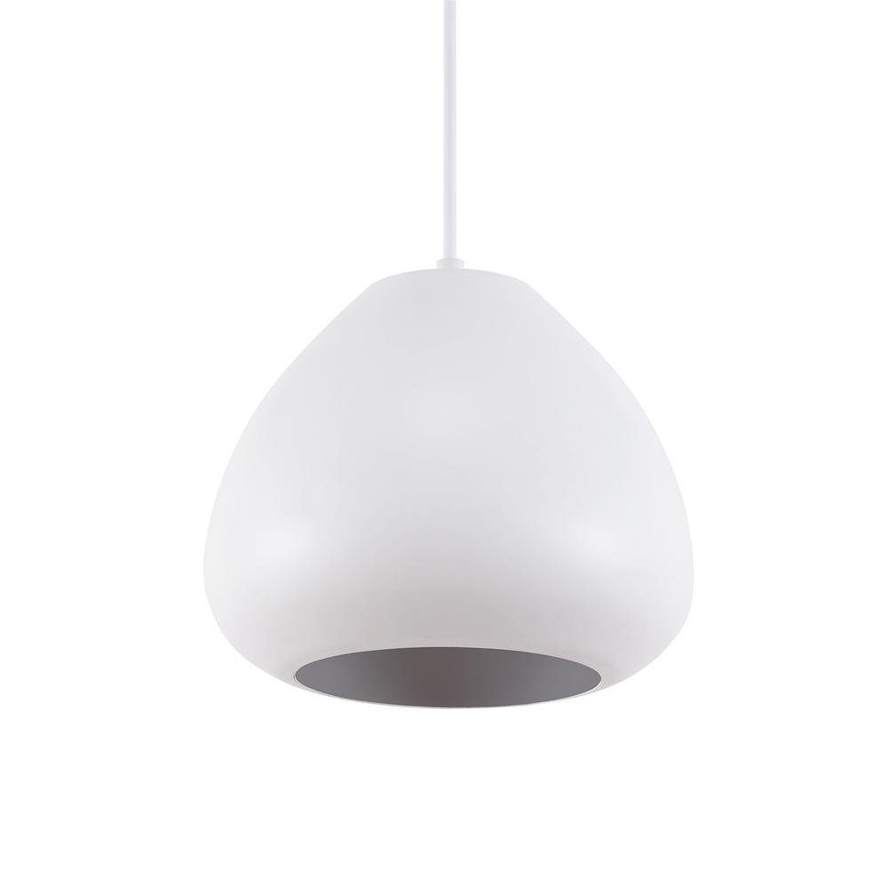 Southern Enterprises Cevera 1-Light White Dome Pendant Lamp was $89.99 now $40.71 (55.0% off)