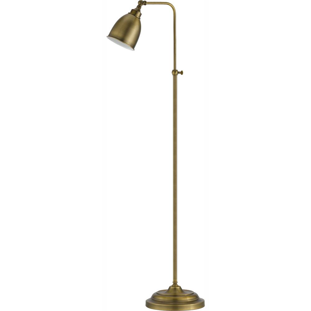 Cal Lighting 62 In Antique Bronze Metal Adjule Pharmacy Floor Lamp
