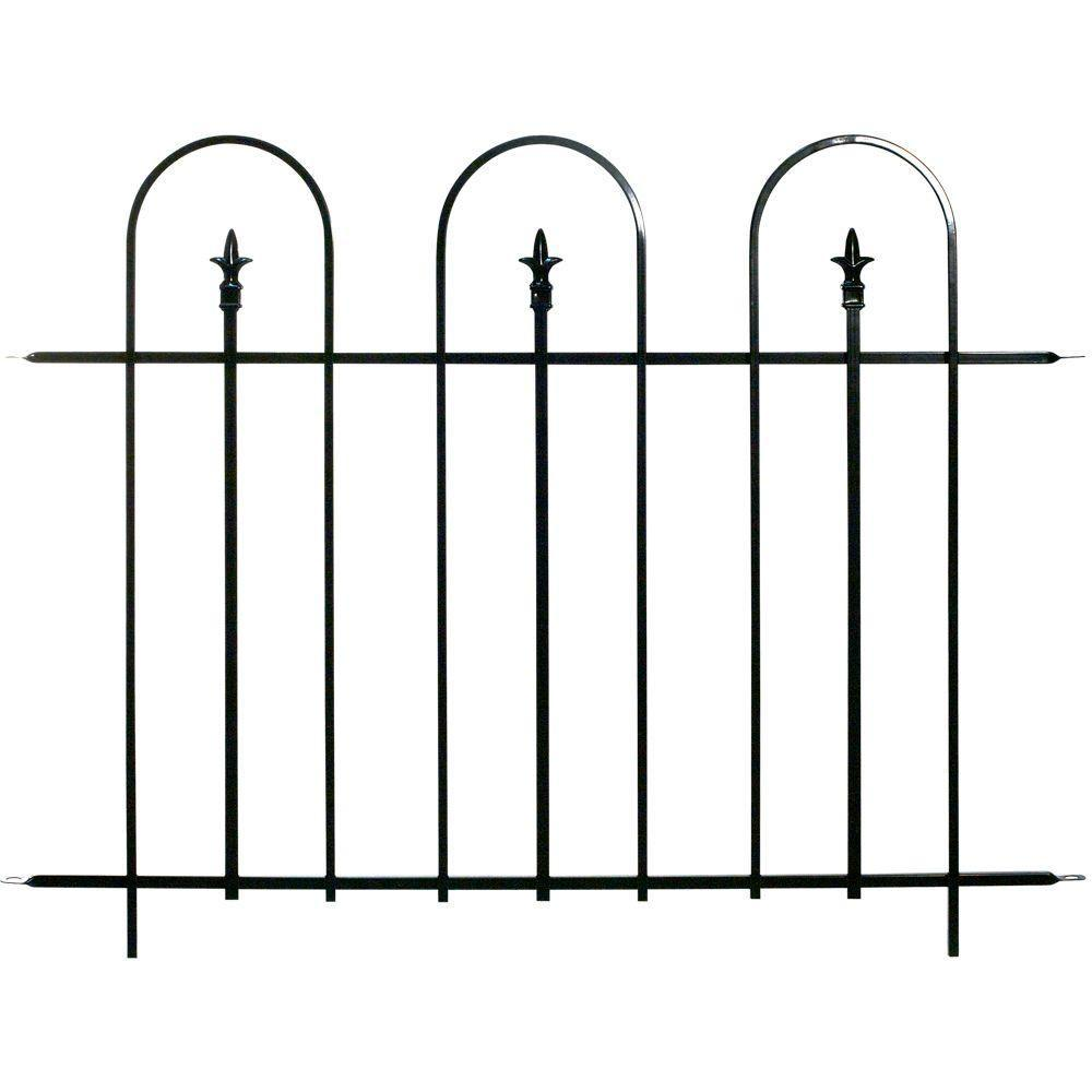 Wide Steel Garden Fence Panel (8 Panels Per Case/384