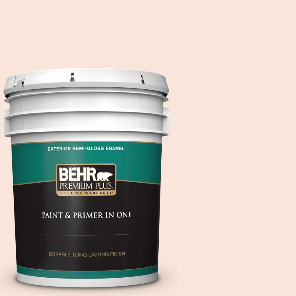 Behr Premium Plus 5 Gal Rd W04 Illuminated Semi Gloss Enamel Exterior Paint And Primer In One 505005 The Home Depot