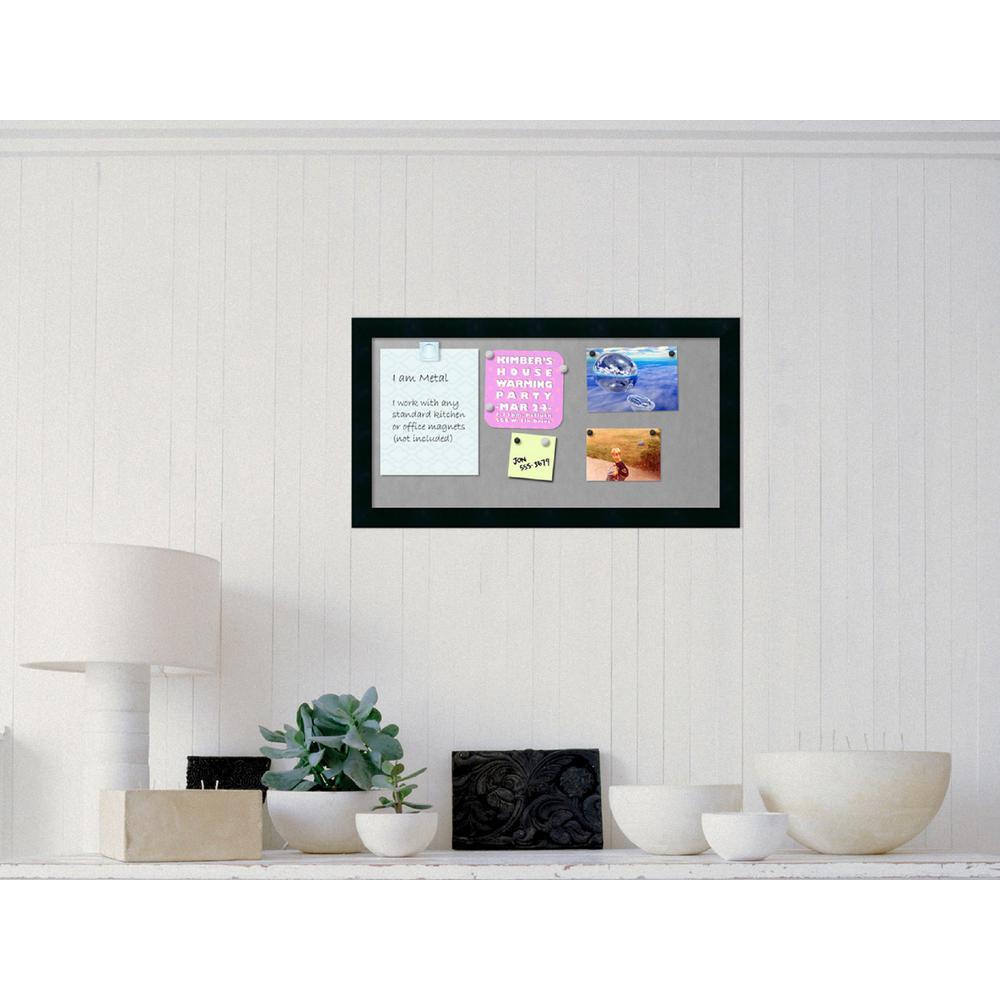 Amanti Art 26 in. x 14 in. Mezzanotte Black Wood Framed Magnetic ...