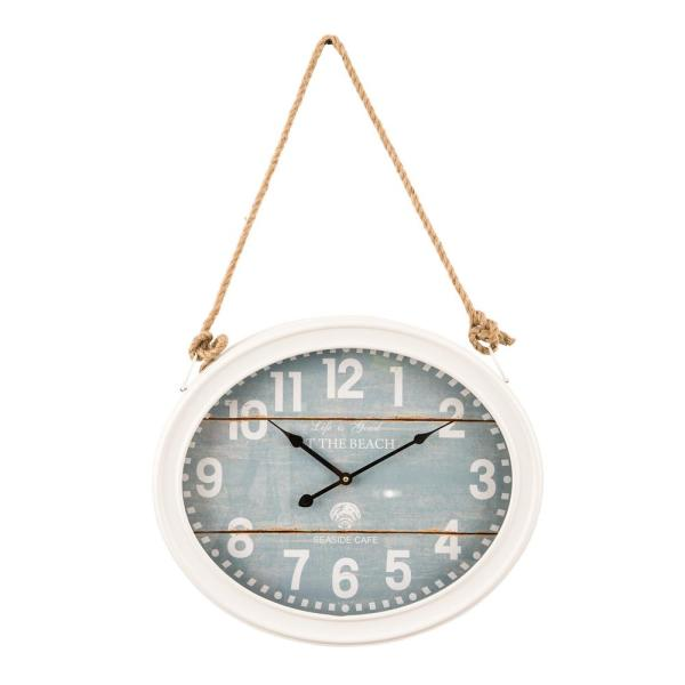 Beach White Roped Wall Clock
