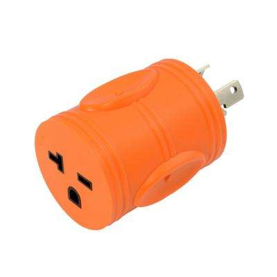 Locking Adapter NEMA L6-30P 30 Amp 250-Volt Locking Plug to NEMA 6-15/20R 15/20 Amp 250-Volt Female Connector