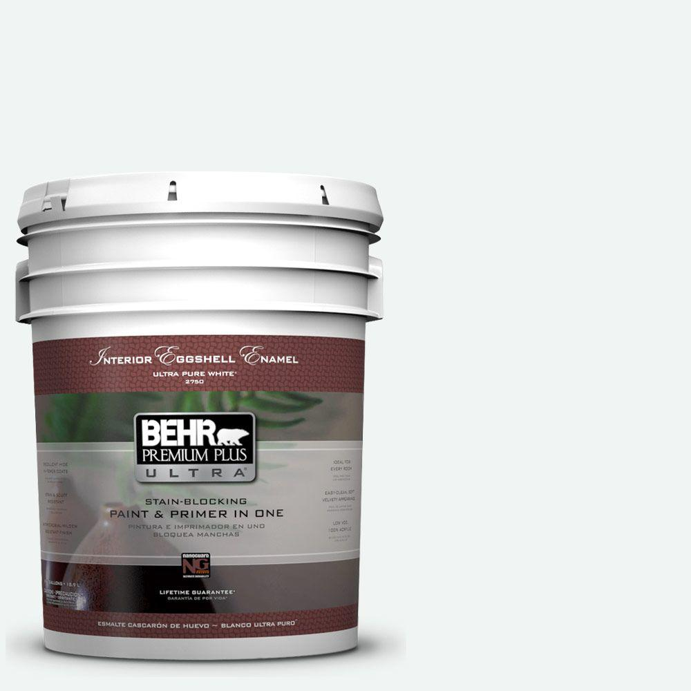 BEHR Premium Plus Ultra 5-gal. #T13-14 Heavy Sugar Eggshell Enamel Interior Paint, Whites