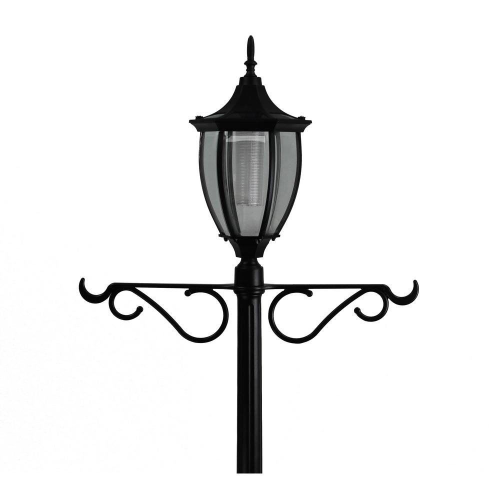 SunRay Crestmont 1-Light Outdoor Black Integrated LED Lamp ...