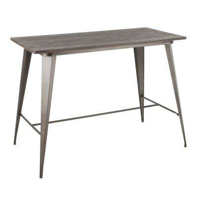 Oregon Antique and Espresso Counter Height Dining Table