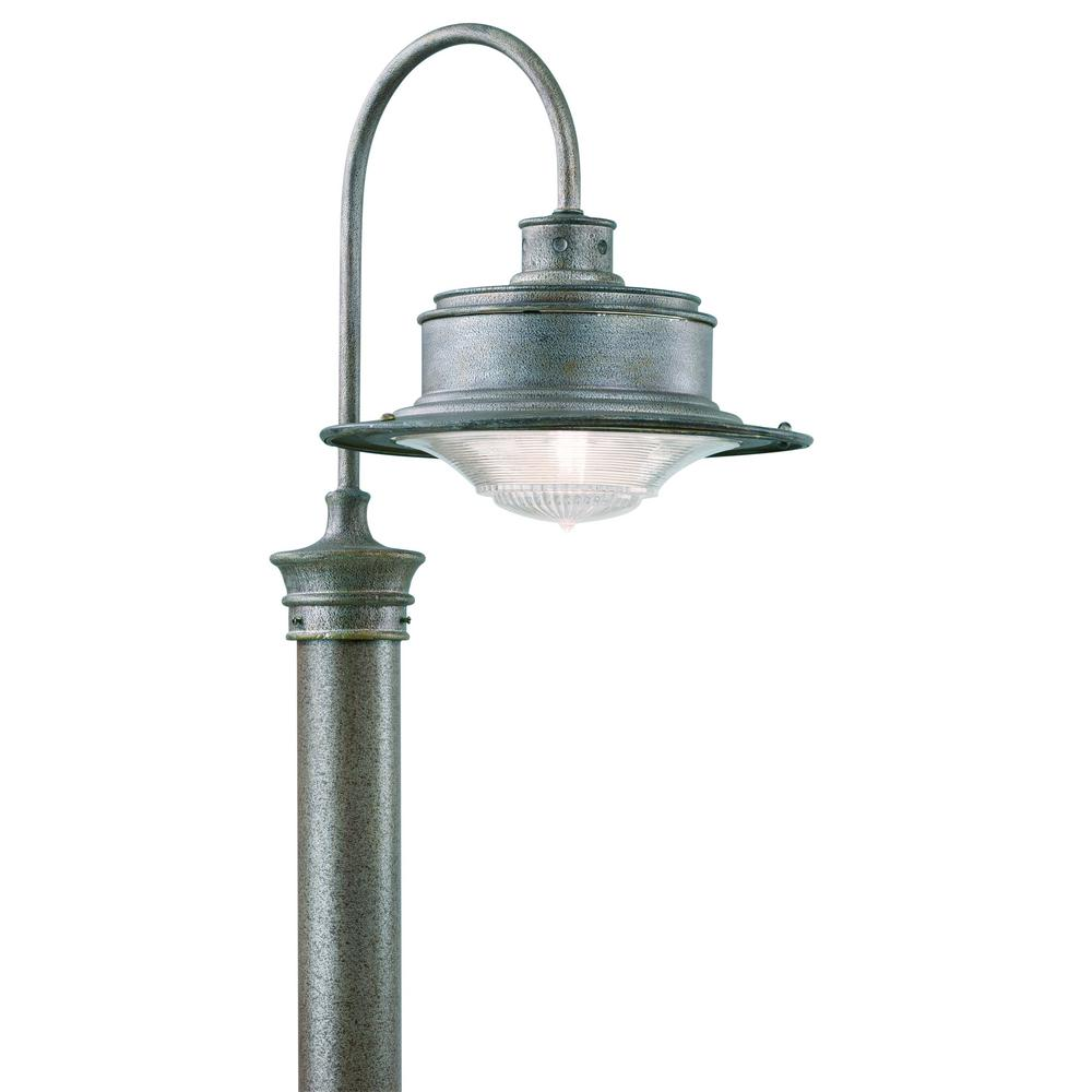 Troy Lighting South Street Outdoor Old Galvanized Post Light