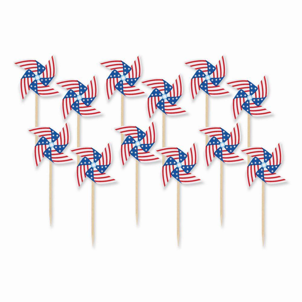 3 in. Pinwheel Flag Picks (20-Count, 9-Pack)