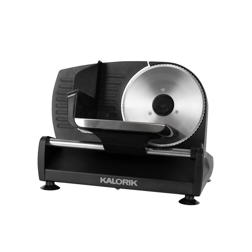 200 W Black Professional Food Slicer