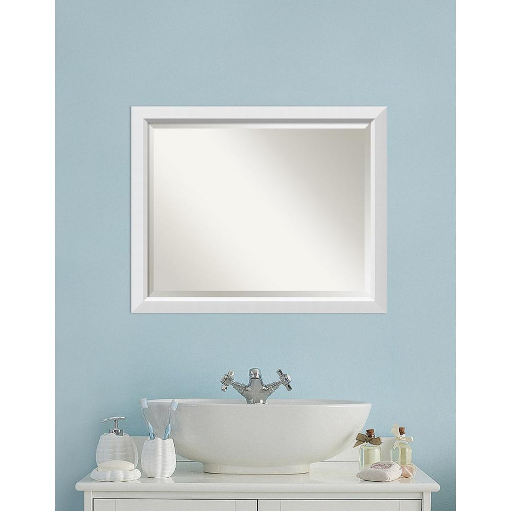 Amanti Art Blanco White Wood 31 in. W x 25 in. H Contemporary ...