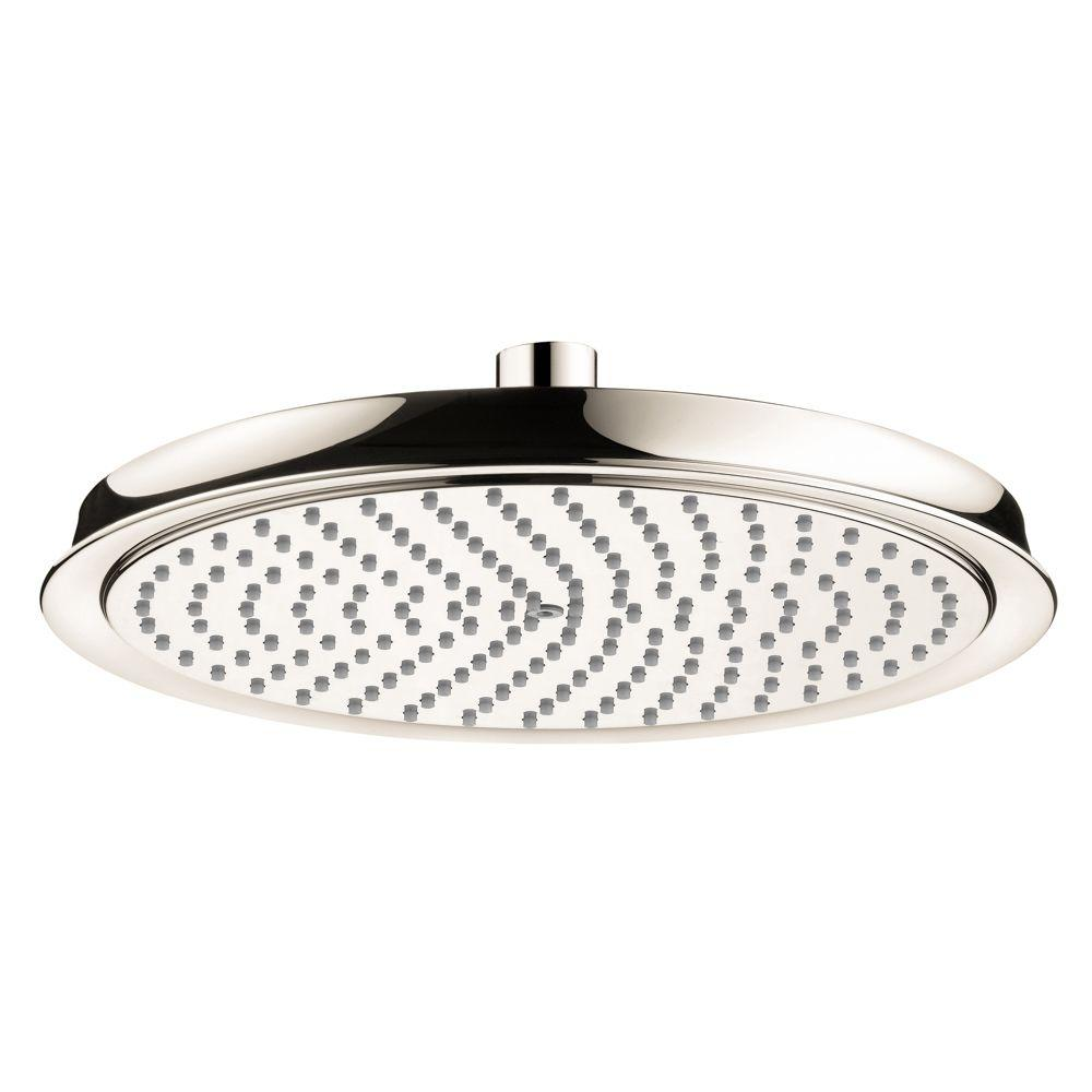 Hansgrohe Raindance C 240 Air 1-Spray 10 in. Showerhead in Polished Nickel