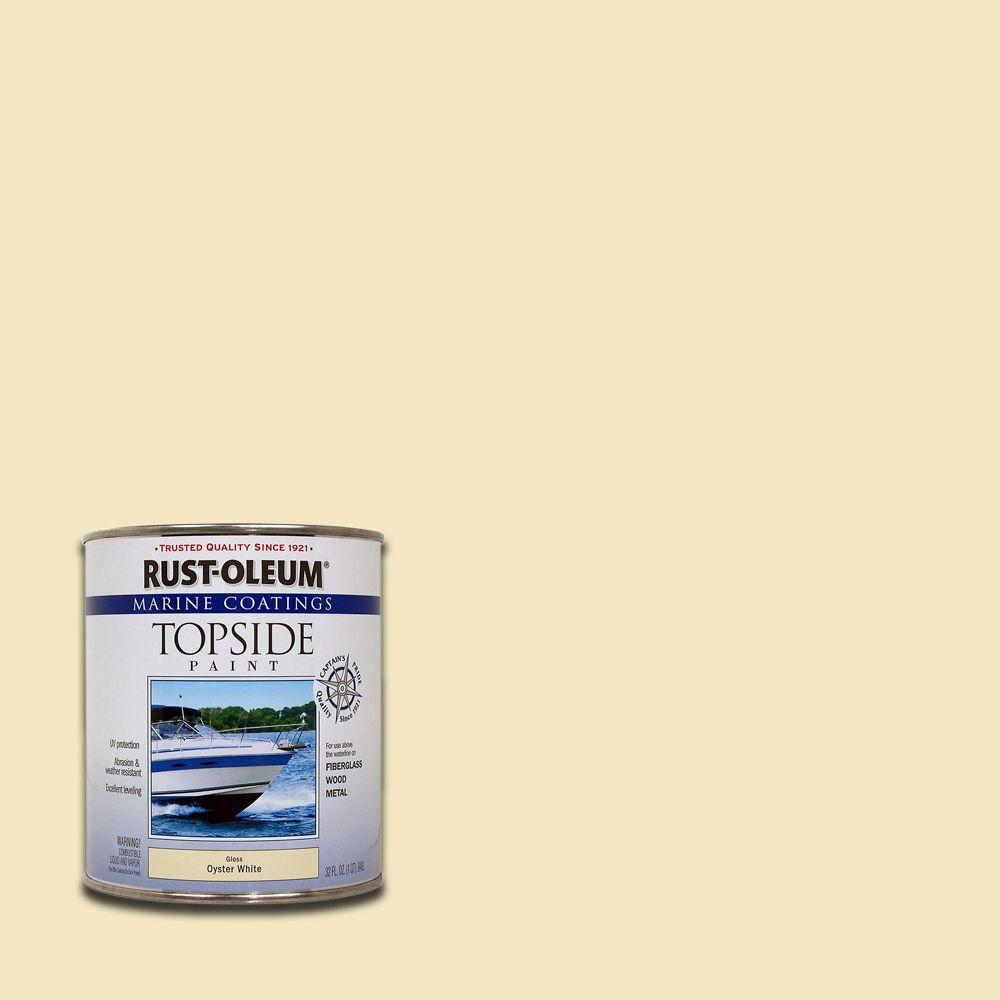 1 qt. Gloss Oyster White Topside Paint (4-Pack)