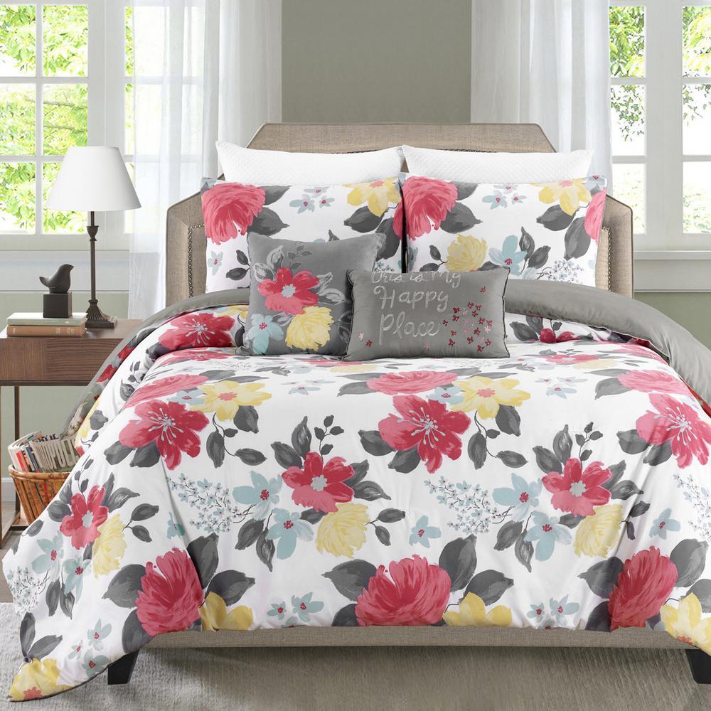 Gwenevere 5-Piece Multicolored Full/Queen Comforter Set