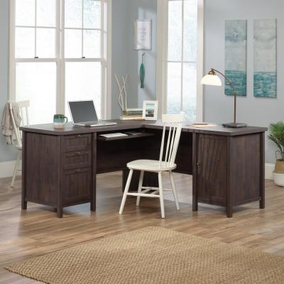 Costa Coffee Oak L-Shaped Desk