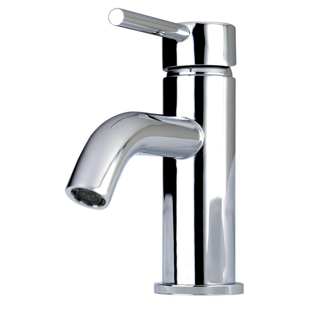 Kingston Brass Contemporary Single Hole Single Handle High Arc Bathroom  Faucet In Chrome