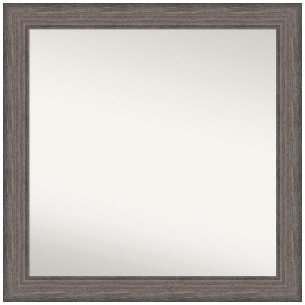 Amanti Art Choose Your Custom Size 34.25 in. x 34.25 in. Country Barnwood Decorative Wall Mirror was $509.95 now $235.08 (54.0% off)
