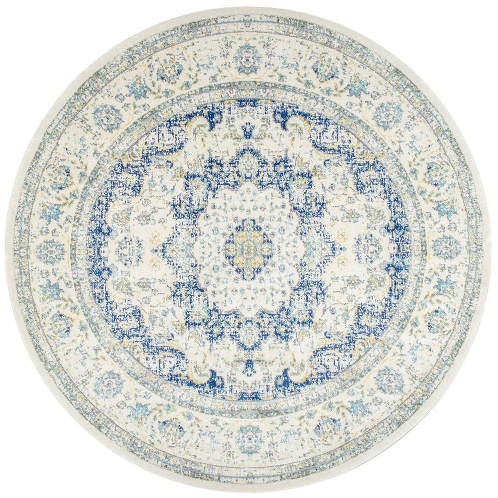 Nuloom Verona Blue 8 Ft X 8 Ft Round Area Rug Rzbd07a