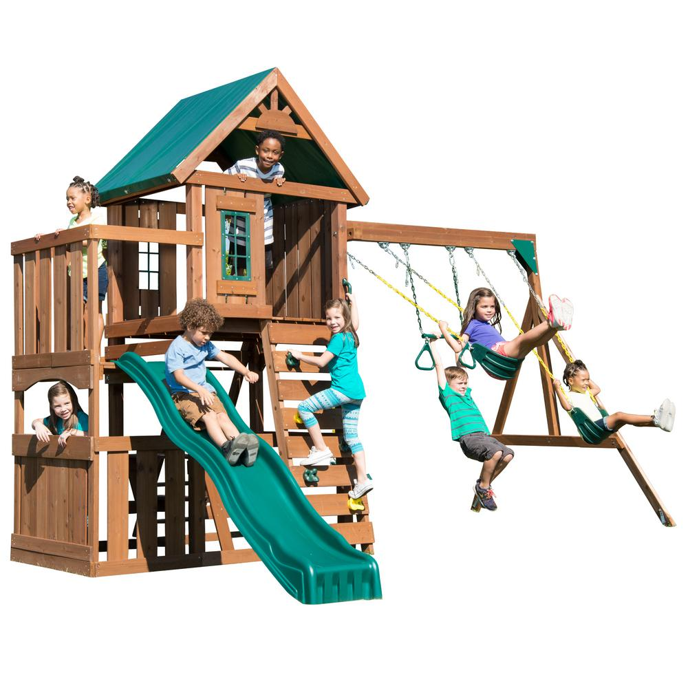 Swing-N-Slide Playsets Elkhorn Ready-To-Assemble Swing Set