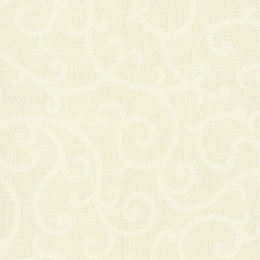 Silhouette Beige Vine Wallpaper