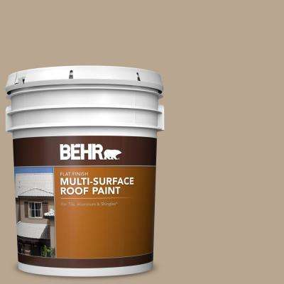 5 gal. #RP-14 Natural Shake Flat Multi-Surface Exterior Roof Paint