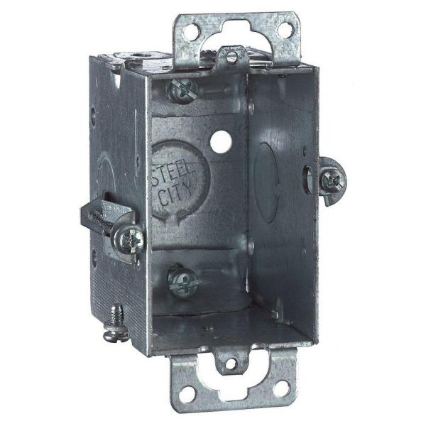 1-Gang 2-1/2 in. Deep Old Work Metal Electrical Box with NM Clamp (Case of 20)