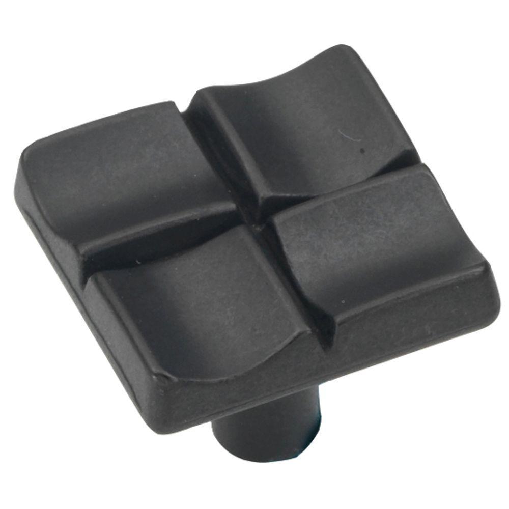 Tidal 1 in. Black Iron Cabinet Knob
