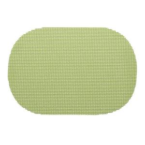 Kraftware Fishnet Oval Placemat in Mist Green (Set of 12) by Kraftware