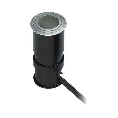 Wet Spot Metallic Grey LED Button Light with Frosted Lens