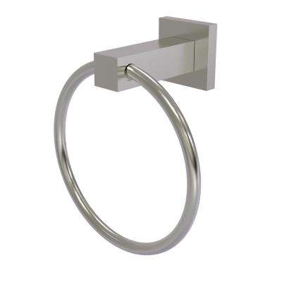 Montero Collection Towel Ring in Satin Nickel
