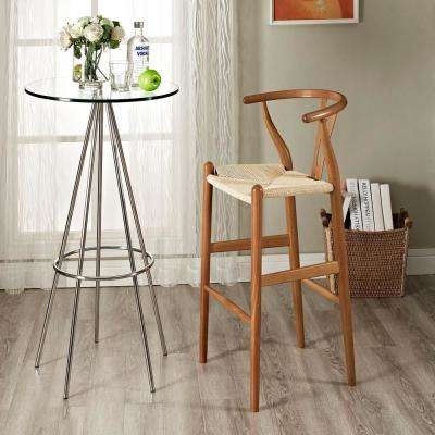 Amish 40 in. Wood Bar Stool in Walnut
