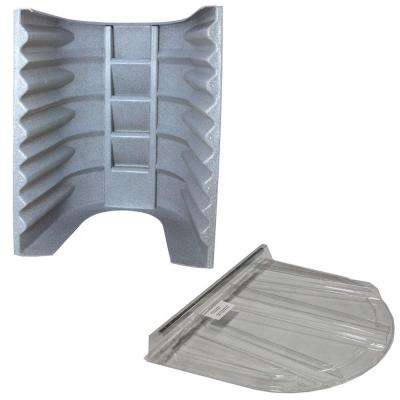 2062 090 Gray Granite Egress Well with Polycarbonate Flat Cover Bundle