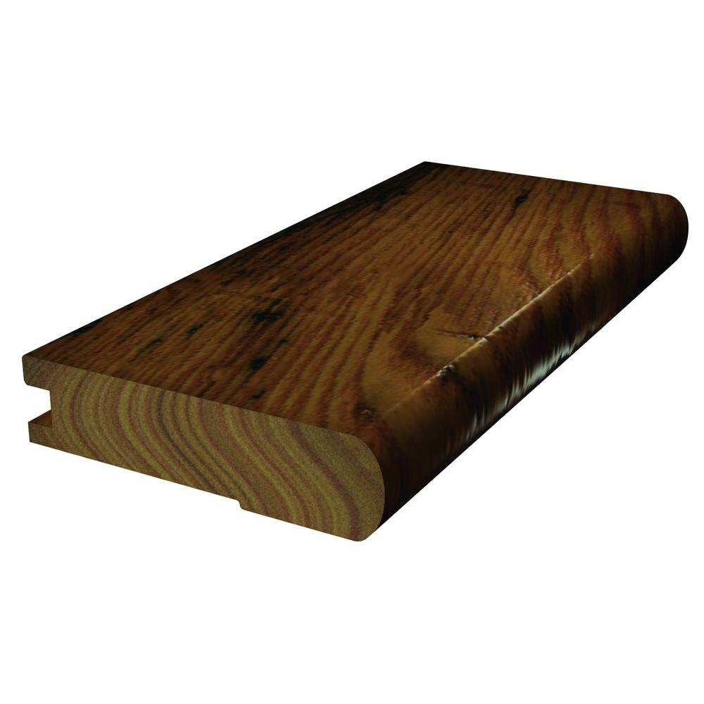 Shaw Plantation Hickory 3/8 in. Thick x 2-3/4 in. Wide x 78 in. Length Flush Stair Nose Molding