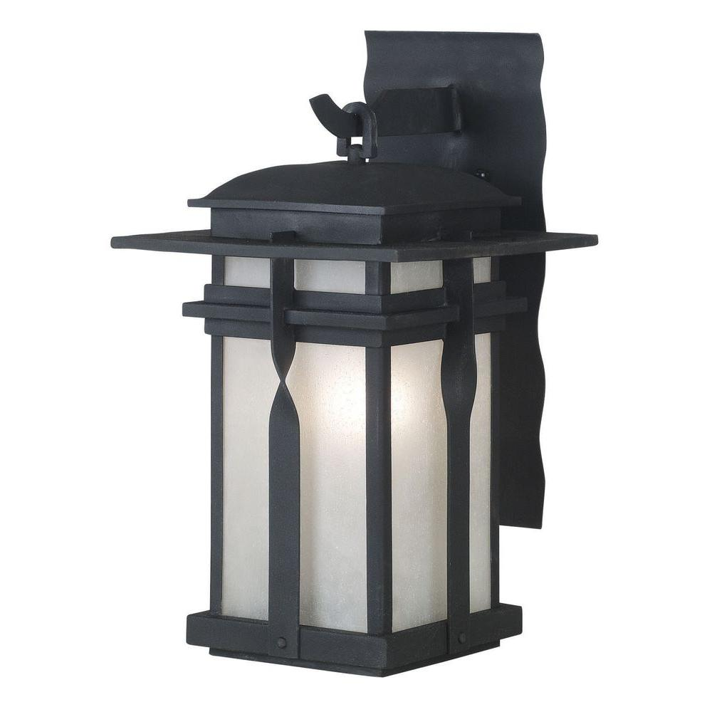 Kenroy Home Carrington 1-Light Small Black Lantern