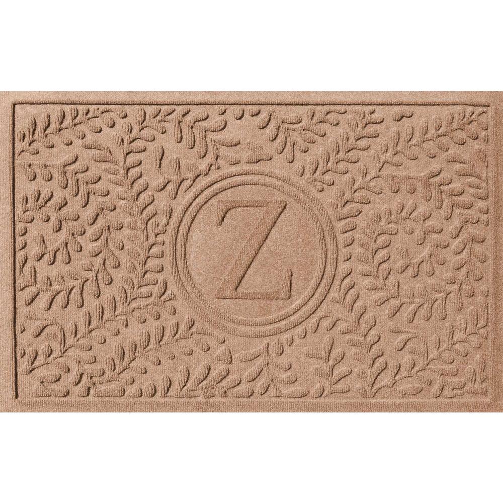 Bungalow Flooring Boxwood Medium Brown 24 in. x 36 in. Monogram Z Door Mat