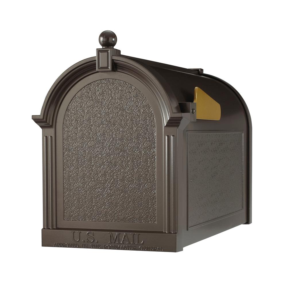 Whitehall Products Streetside Mailbox in French Bronze