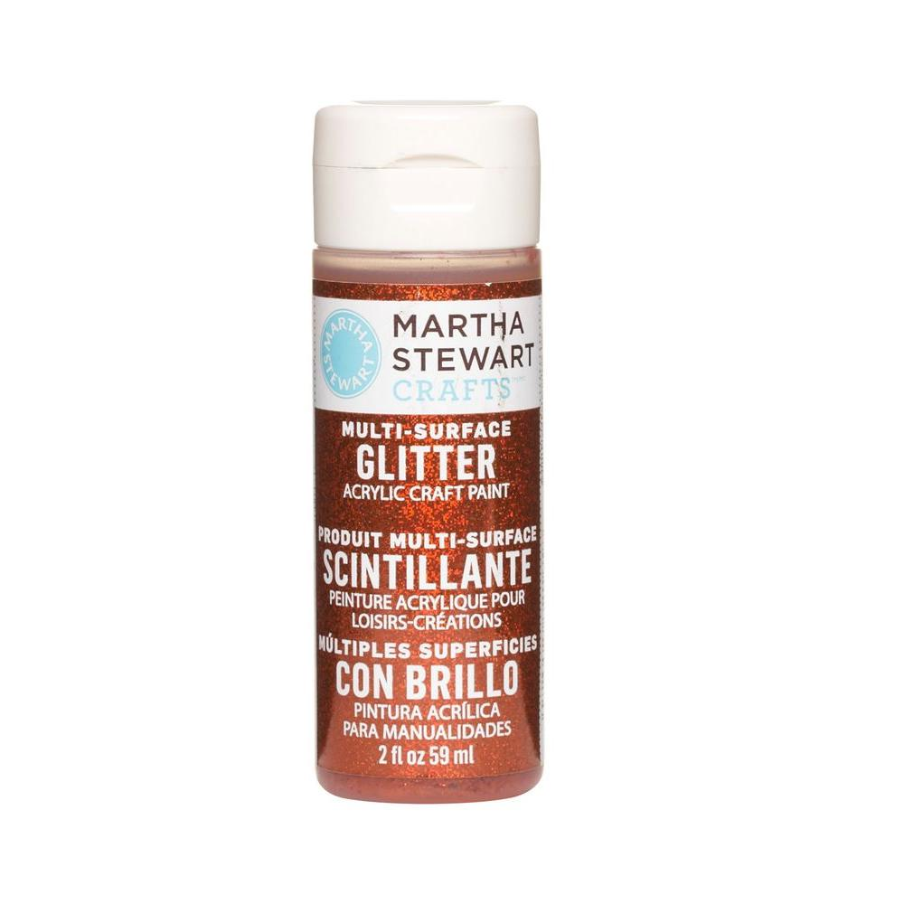 Martha Stewart Crafts 2-oz. Carnelian Multi-Surface Glitter Acrylic Craft Paint
