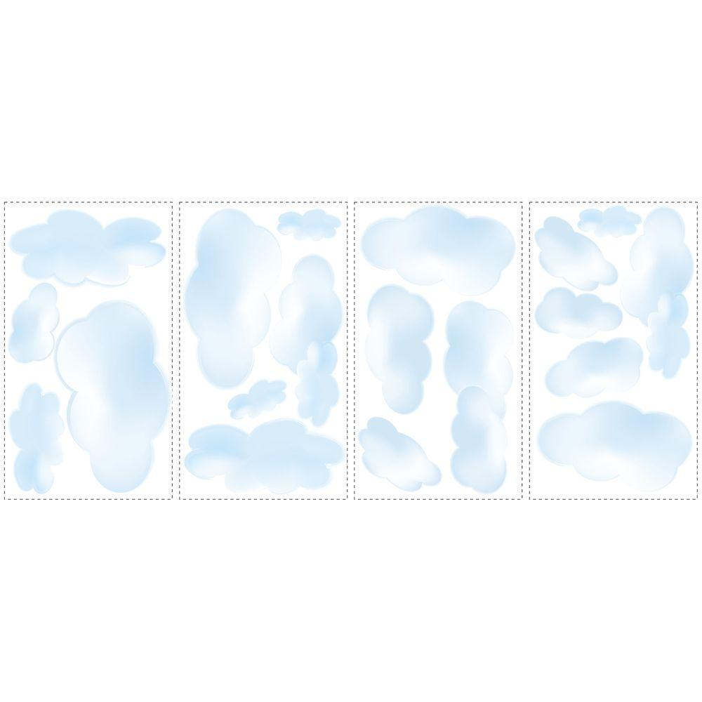 5 in. x 11.5 in. Clouds Peel and Stick Wall Decal