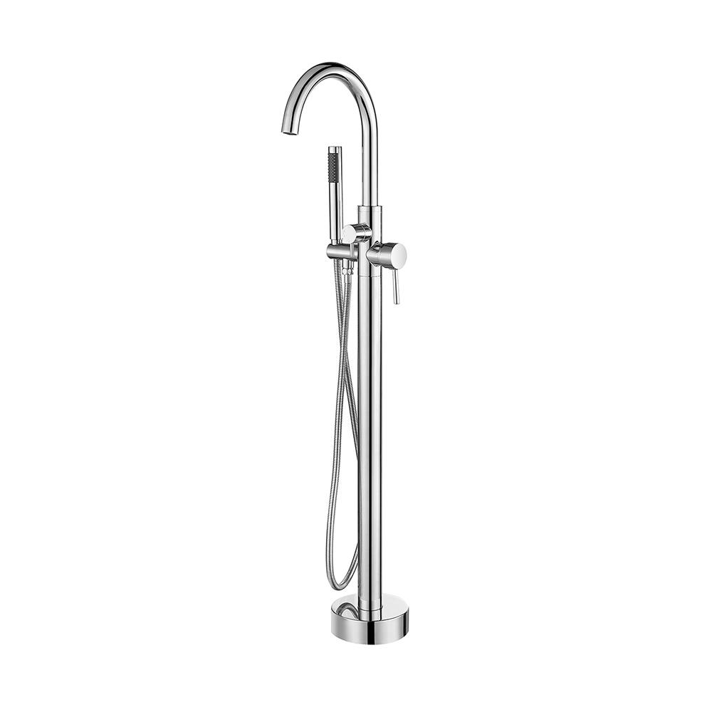 ROSWELL Berkeley 2-Handle Freestanding Roman Tub Faucet with Hand Shower in Chrome