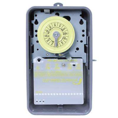 T106R 40 Amp 24-Hour Mechanical Time Switch with Outdoor Steel Enclosure - Gray