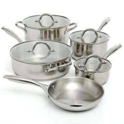 Saunders 9-Piece Stainless Steel Cookware Set with Lids