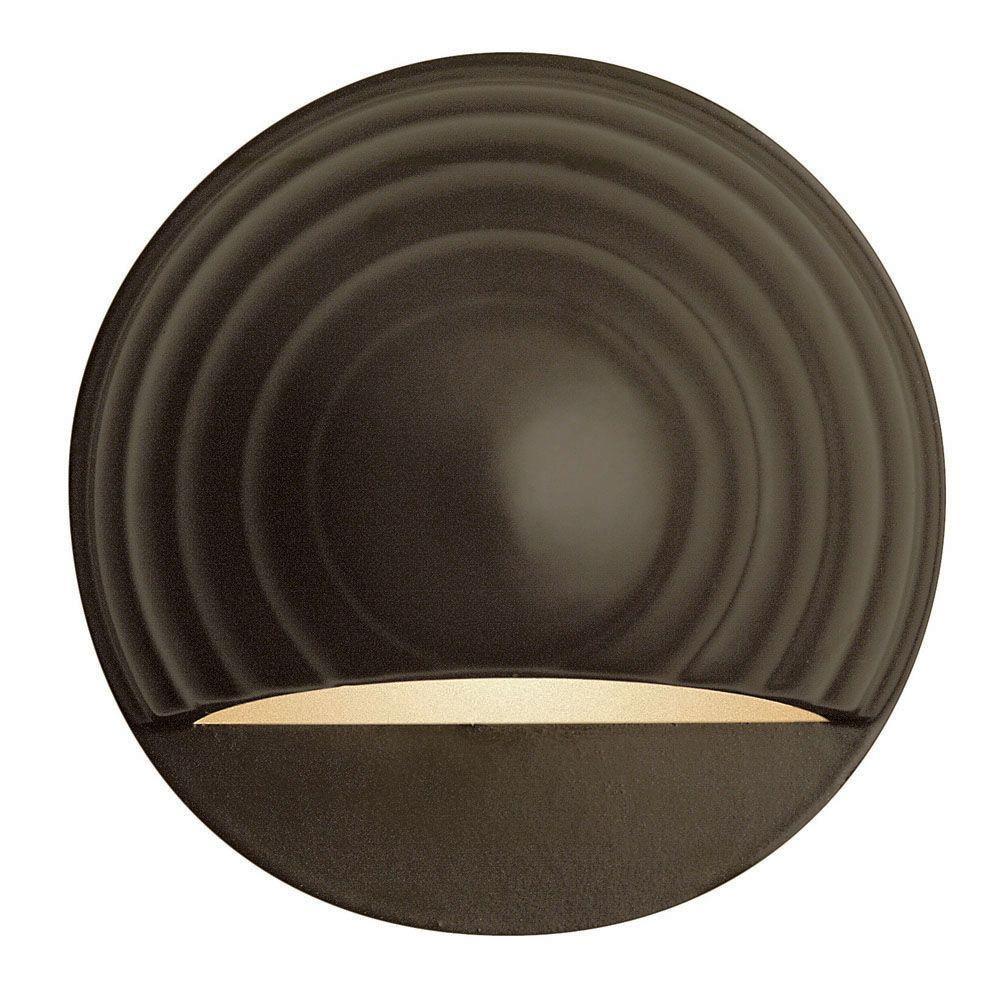 Low-Voltage 7-Watt Bronze Round Deck Sconce