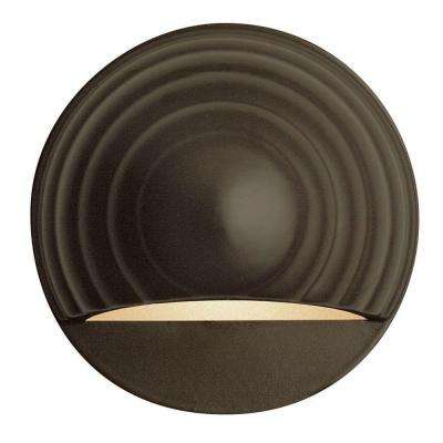 Low-Voltage 7-Watt Bronze Round Deck Sconce