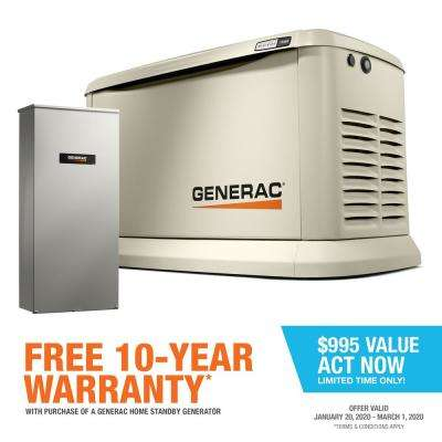 Guardian 13000-Watt Air-Cooled Home Standby Generator with Wi-Fi and 16-Circuit Transfer Switch