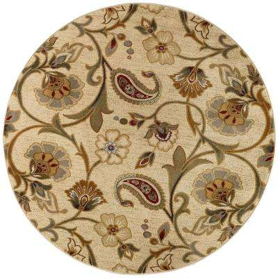 Image result for Tayse Rugs Impressions 7772 Beige 5 ft. 3 in. Round Transitional Area Rug