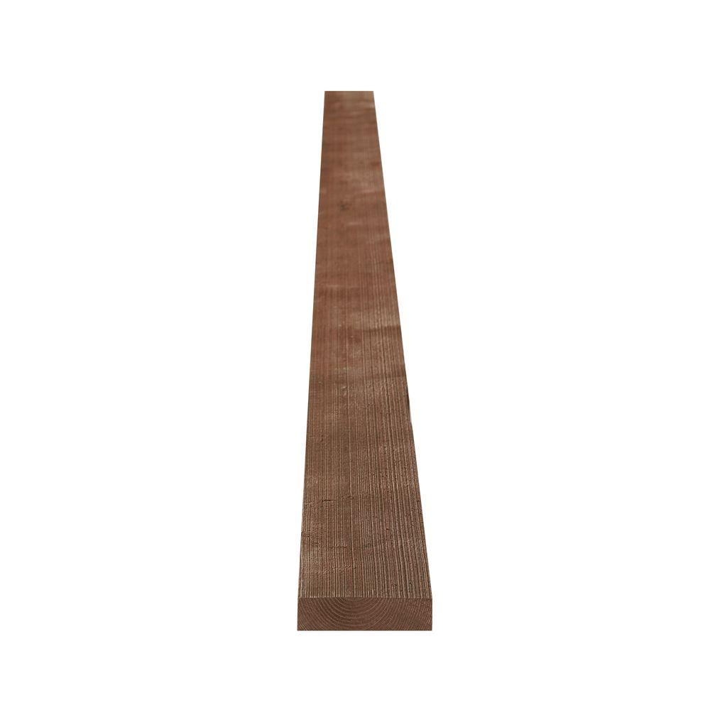 1 in. x 4 in. x 8 ft. Weathered Barn Wood Dark Brown Pine Trim Board
