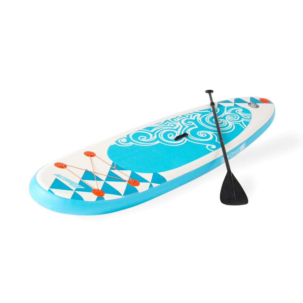 BANZAI 10 ft. Inflatable SUP Stand Up Paddle Board Adjustable Paddle and Backpack