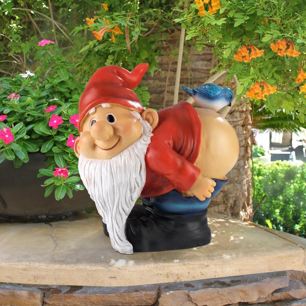 8 in  H Loonie Moonie Bare Buttocks Garden Gnome Medium Statue