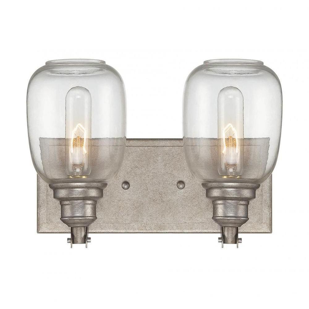 Euboea 2-Light Industrial Steel Bath Vanity Light